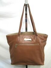 DKNY Large Brown Leather Shoulder Tote Handbag