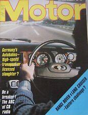 Motor magazine 14/11/1981 featuring Range Rover, Toyota Land Cruser