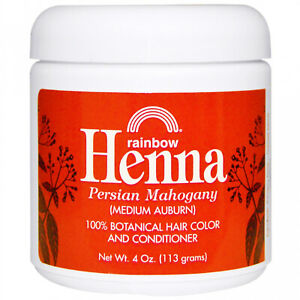 Rainbow Research, Henna, Hair Color And Conditioner, Mahogany (Medium Auburn),