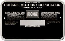 Rockne Acid Etched Data Plate 1932 -1933 built by Studebaker