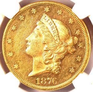 1876 $20 MS60 NGC -Liberty Head