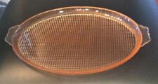 Jeannette Pink Depression Glass Homespun Platter with Tab Handles