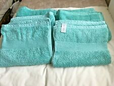 6 NEW COTTON TURQUOISE BATH TOWELS