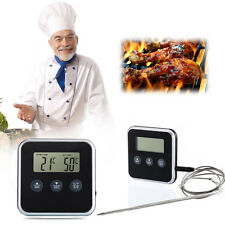 New Electronic Digital Remote Probe Oven Roast Food Timer BBQ Meat Thermometer