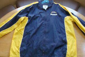 🏈NFL San Diego Chargers Top Jacket Windbreaker 2XL LONG SD LA apparel Angeles