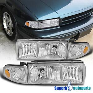 For 1994-1996 Chevy Impala Headlights Head Lamp w/ Corner Lights 91-96 Caprice