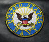 USA NAVY LOGO TOP GUN EMBROIDERED 3 inch IRON ON SEW ON MILITARY PATCH
