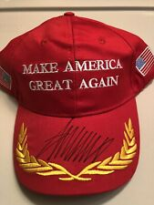 President Donald Trump Signed Red MAGA HAT