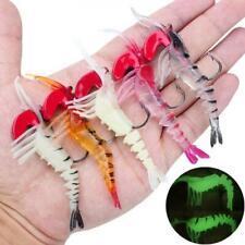 Soft Lures 5pcs/lot 11.5cm 12g Soft Shrimp Fishing Lures Luminous Prawn Bait