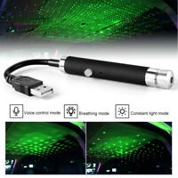 USB Car Atmosphere Lamp Interior Ambient Sky Starry Light Sound LED Projector