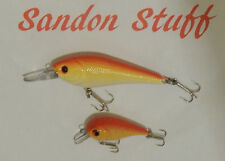 fishing lures TWIN PACK Orange and Yellow diving minnows