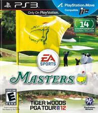 Tiger Woods MASTERS PGA TOUR 12 PS3! MOVE COMPATIBLE! GOLF, FUN FAMILY GAME!
