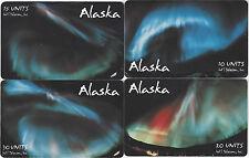 TK 7 Phonecard Alaska 10u, 15u, 20u, 30u Alaska Aurora Borealis Photos Auf. 5000