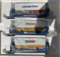 MTH PREMIER CSX 3 CAR TWIN STACK SET FOR LIONEL ATLAS K-LINE DOUBLE HUSKY
