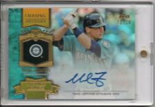 2013 Topps Chasing History Gold AUTO #MZ Mike Zunino UPD #d 10/10 RAYS LPG