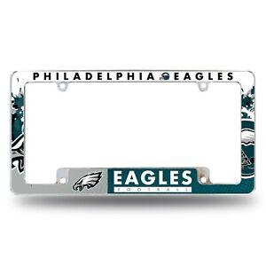 Philadelphia Eagles Chrome ALL OVER Premium License Plate Frame Cover Truck Car