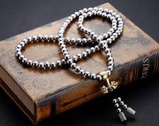 Stainless 108 Buddha Beads Necklace Bracelet Soft Whip WuShu Fitness Equipment