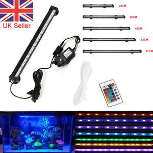 LED SMD Aquarium Fish Submersible Tank RGB White Blue Light Bar Lamp Lighting UK