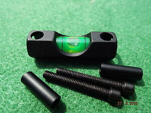 """Rifle / Airgun Scope Spirit Level Bubble for 30mm or 25mm / 1"""" Mounts Bolt on"""