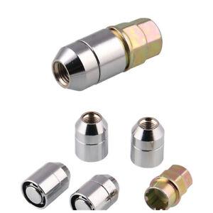 4Pcs Car Anti Theft Security Lock M12x1.5 Nut Wheel Lug Nut with Specialized Key