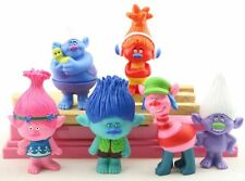 Trolls Movie Poppy Guy Diamond Branch DJ Suki Toys Figurine Cake Topper x 6pcs