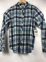 Billabong Mens Core Fit w Stretch Wave Washed Flannel Coastline LS Shirt NWT $60
