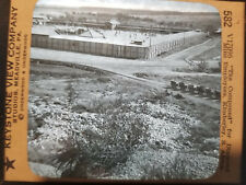 ANTIQUE KEYSTONE GLASS CAMERA SLIDE Diamond Mine compound S. Africa (582)