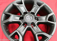 TOYOTA HILUX TRD FORTUNER ALLOY WHEELS JULY 15> SET OF 4 GENUINE ACCESSORY BLACK