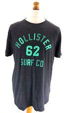 HOLLISTER Mens T Shirt Top XL Grey Cotton & Polyester