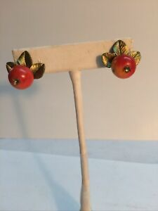 Michael Michaud Crabapple Stud Earrings