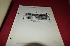 John Deere Model O Grain Drill Dealer's Parts Book Manual Dcpa3