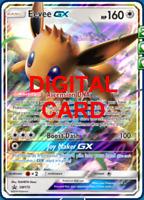1X Eevee GX SM175 Pokemon Online Card TCG PTCGO Digital Card