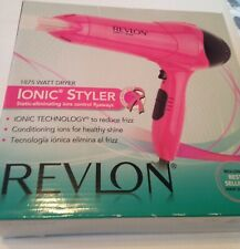 Revlon Pink Hair Dryer. Ionic Styler - Prevents Frizz 1875 Watt. New in Open Box