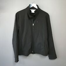 FJALL Women's Black Zip Utility Jacket Scuba Fabric Fleece Lined Size L