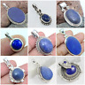 LAPIS LAZULI HANDMADE PENDANT IN 925 SOLID STERLING SILVER IN MANY SHAPE & STYLE