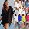 Womens Holiday Summer Beach Bikini Cover Up Kaftan Beachwear Sarongs Tunic Dress