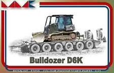 Caterpillar Bulldozer D6K 1/35 resin MK models F3050 modern