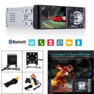 "4.1"" Car Stereo Radio MP5 Player Bluetooth 1DIN SD USB TFT Audio & HD Camera Kit"