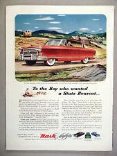 Nash Ambassador Airflyte PRINT AD - 1953