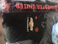 manchester united authentic jersey and Scarf