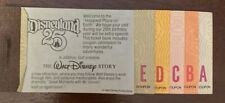 "Disneyland Adult ticket coupon booklet Disney 25th! ""Complete"" 11 Adventures"
