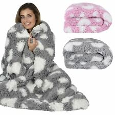 Hearts Design Luxury Fleece Blanket Soft Sherpa Warm Home Cosy Sofa Bed Throw