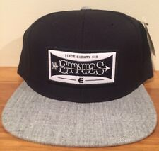 ETNIES Brandito Black & Gray Snapback Adjustable Cap Hat $30