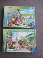 Ravensburger 500 piece jigsaw puzzles - 'The Mechanic' & 'The Train Driver'