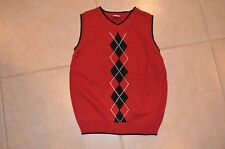 Gymboree Boys S Small 5 - 6 Red / Black Sweater Vest - New