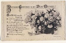 Vintage Postcard - Birthday Greetings to My Dear Mother (Beagles - Unposted 1956