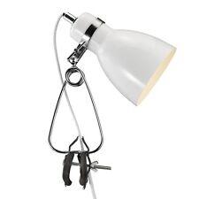 Klemmleuchte Tischleuchte Klemmspot Strahler Klemm Lampe Cyclone WEISS B-ware