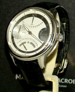 MAURICE LACROIX 46mm MASTERPIECE DOUBLE RETROGRADE MP7218-SS001-110 NMINT BOX/PP