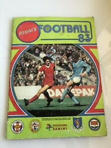Panini Football 83 sticker album - 100% Complete
