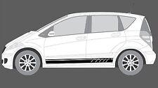 Mercedes-Benz A-Class W169 Lateral a Rayas Decal Set, Edición Negro Estilo. (AMG)